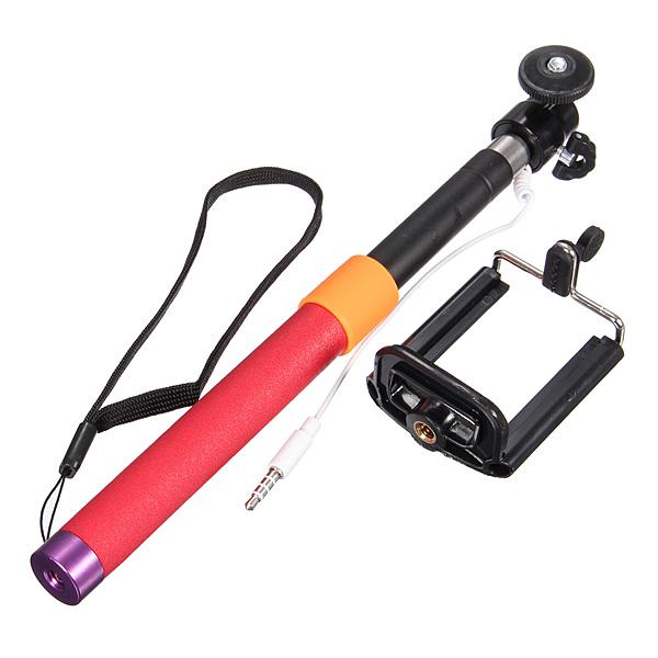 Selfie stick met kabel