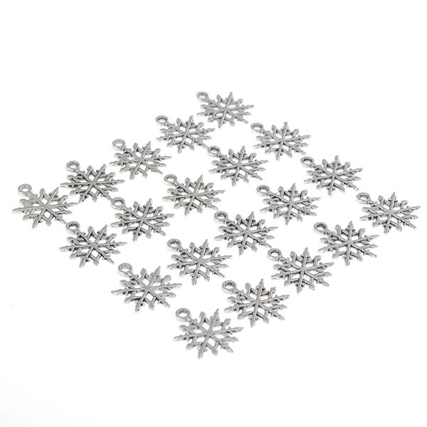 Bedels met Sneeuwvlokken voor Sieraden Maken (30 Stuks)