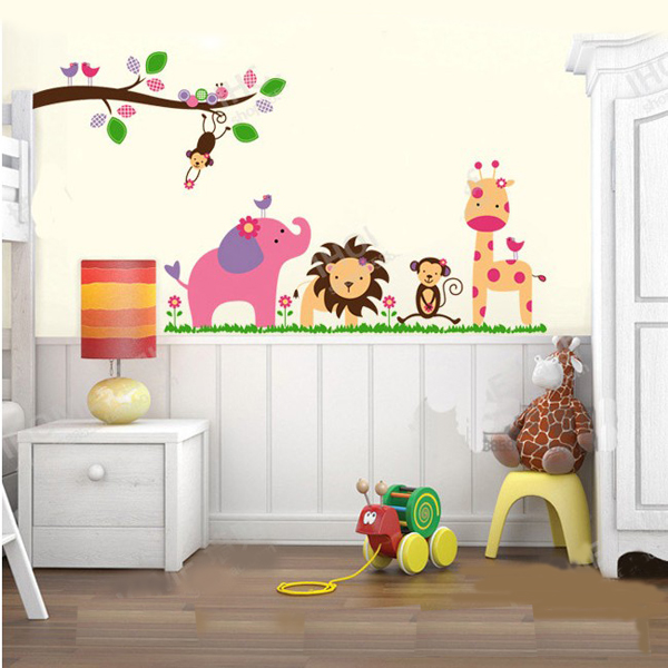 Muursticker Babykamer van Jungle
