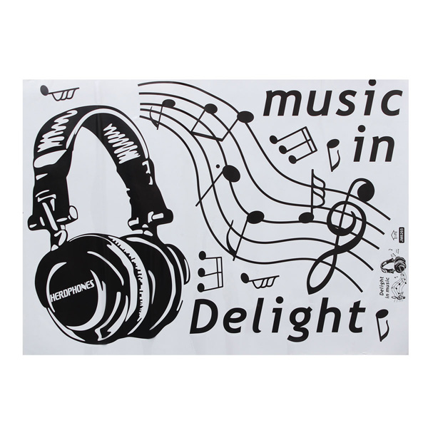 Set Muziek-Muurstickers