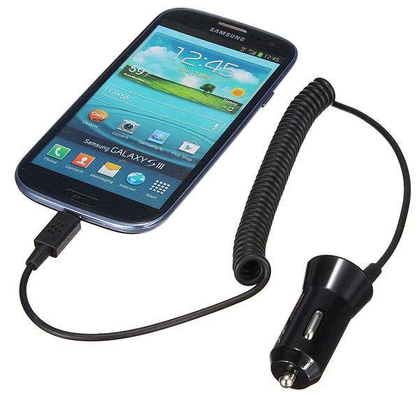 Micro USB Autolader voor iPhone, Samsung & Blackberry