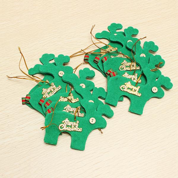 Kerstboomdecoratie Eland 10 Stuks