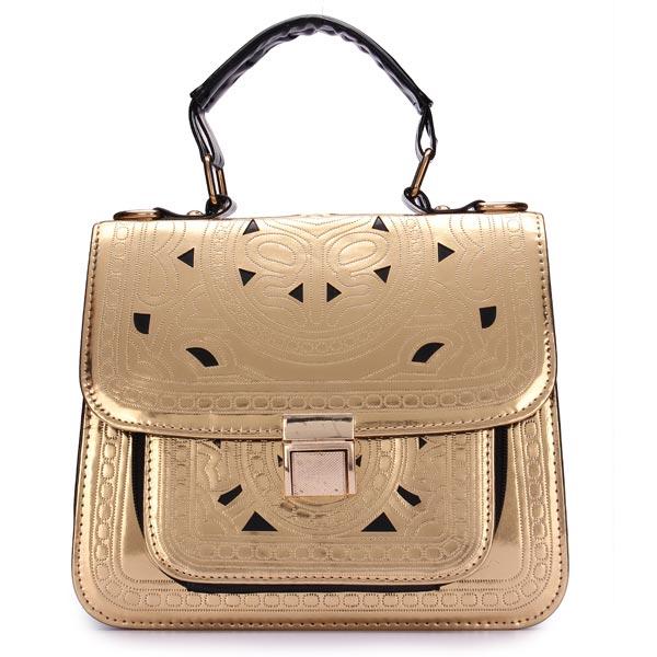 8a551e30aaa Bruin Witte Dames Handtassen met Kat of Konijn Patroon 92315 JS -