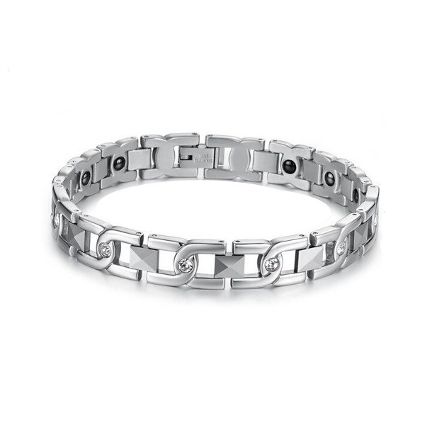 Magneet Armband van Roestvrij staal en Hematiet