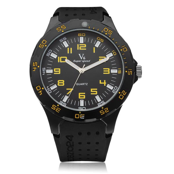 56e8e07aa98 Aanbieding: Kalenji Sporthorloge Stopwatch Heren W500 M Geel ...