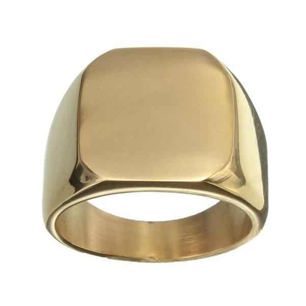 Stoere Goudkleurige Ring van Titanium-Staal voor Mannen