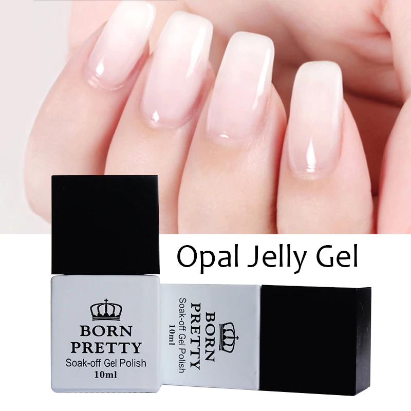 Image of 1 Fles 10 ml GEBOREN PRETTY Opaal Jelly Gel Wit Losweken Manicure Nail Art UV Gel Polish Vernis Born Pretty 3345426