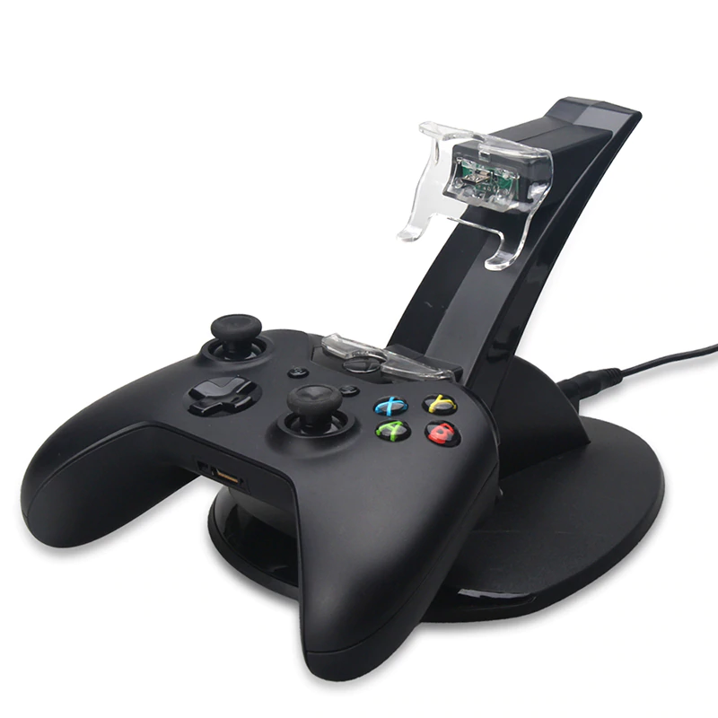 USB LED Snel Opladen Adapter Stand Dock Station voor Dual Xbox One Game Controller   ALLOYSEED