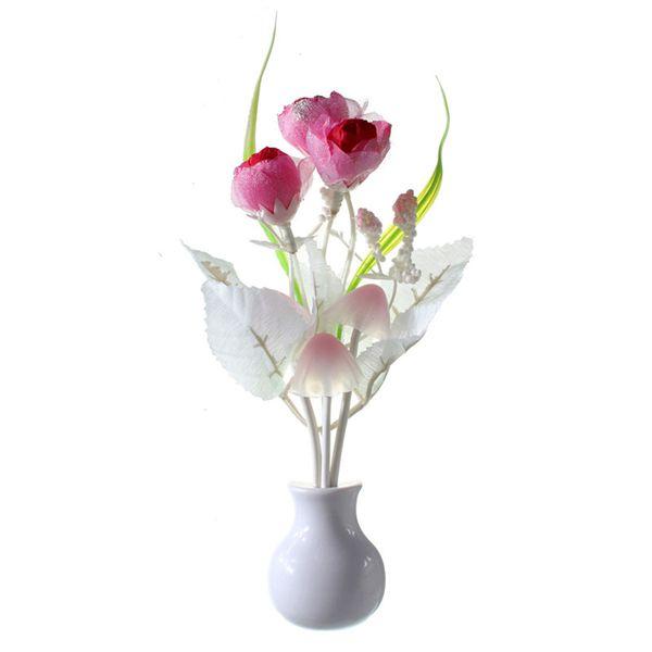 Nachtlampje Kind met Paddestoelen & Bloemen