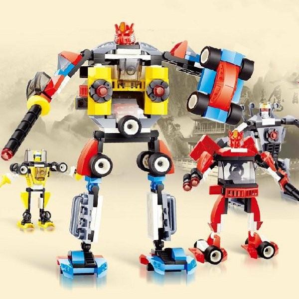 4 in 1 transformatie robot auto diy speelgoed voor kinderen