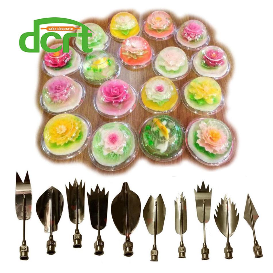 Image of 3D Jelly Art Gereedschap Jelly Cake Jello art Gelatine Gereedschap pudding nozzle Russische Nozzles 10 STKS/SET bruidstaart decoreren gereedschappen F dcrt 3408947