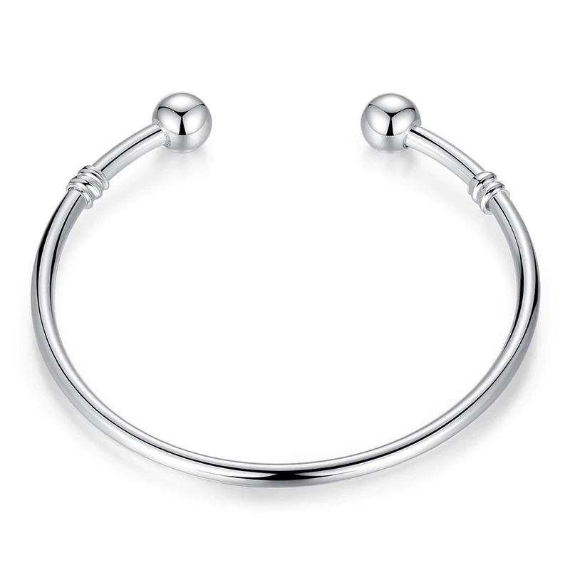 Koop Zilveren Europese Charm Bead Bangle & Armband Mode-sieraden Voor Vrouwen Mannen XCH3040 WOSTU