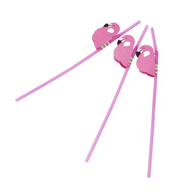 6 Stks-partij Flamingo Kerstfeest Decoratie Papier Rietjes Homebrew Wedding Party Leveranciers Rietj