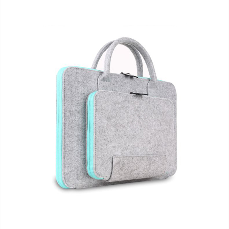 vilt universele laptoptas notebook case aktetas handlebag pouch voor macbook air pro retina mannen v