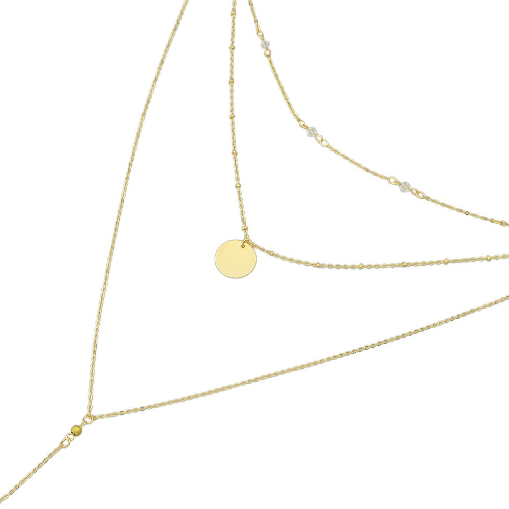 Body Sex Chain Gold-Kleur Lange Ketting MultiLayer Ketting Ronde Hanger Ketting Bijuteria