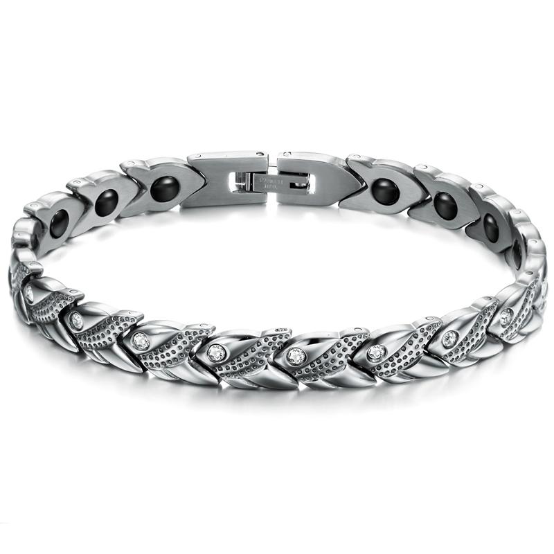 TrustyLan Rvs vrouwen Gezondheid Energie Met Magnetische Steen Armband Vrouwelijke Cz Armbanden Armb