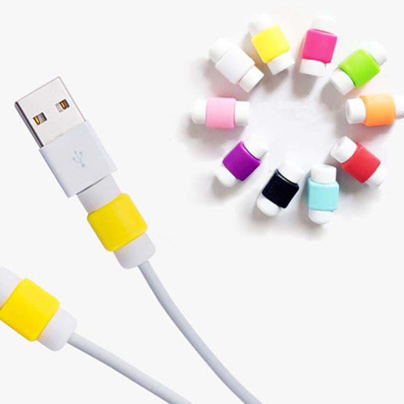 20 Stuks Usb-kabel Protector Mouw D2 Mobiele Telefoon Oplader Cord Protector Siliconen Voor IPhone L