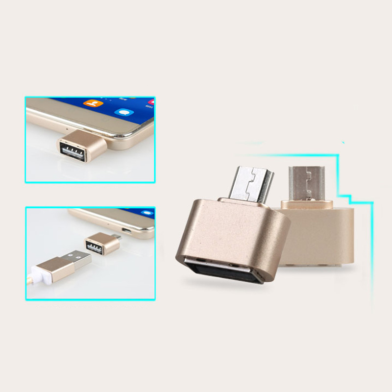 Mini Micro USB Naar USB OTG Adapter 2.0 Converter Voor Android Samsung Galaxy S3 S4 S5 Tablet Pc om