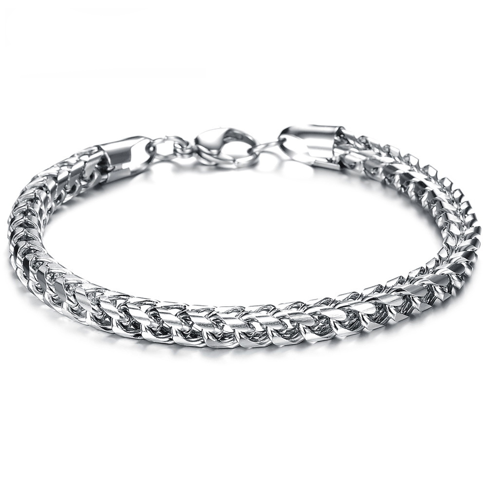 Fate Liefde Mode-sieraden Rvs Titanium Zilveren Kettingen Mannen Bangle Armband Mannelijke Charme Di