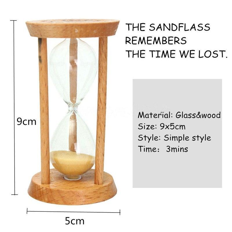 Zandloper van hout 3 minuten
