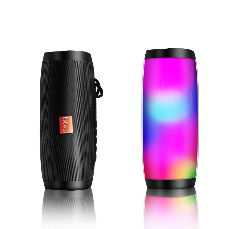 Draadloze Bluetooth Speaker LED Draagbare Boom Box Outdoor Bass Kolom Subwoofer Klankkast met Mic On