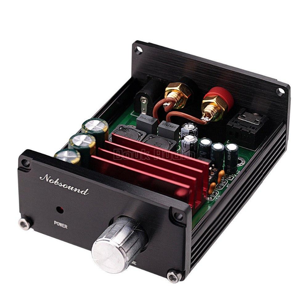 Subwoofer 2 1 Stereo Amp Audio Amplifier Board Tda1521a Circuit Nobsound Hifi 100 W Mini Power Versterker Alle Aluminium Zwart Grijs