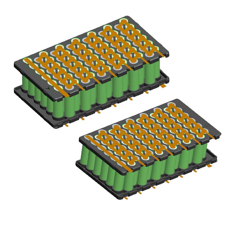 48 V E-bike Li houder en nikkel tape 6P13S batterij houder en Ni Plaat 48 V 15Ah 13S6P 18650 batteri