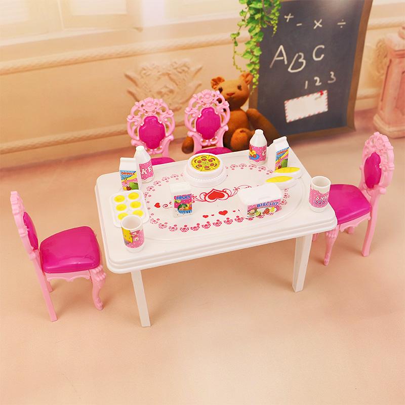 Jimusuhutu Diner Tafel Servies voor Barbie Kelly Poppenhuis Meubels 17 stks Accessoires