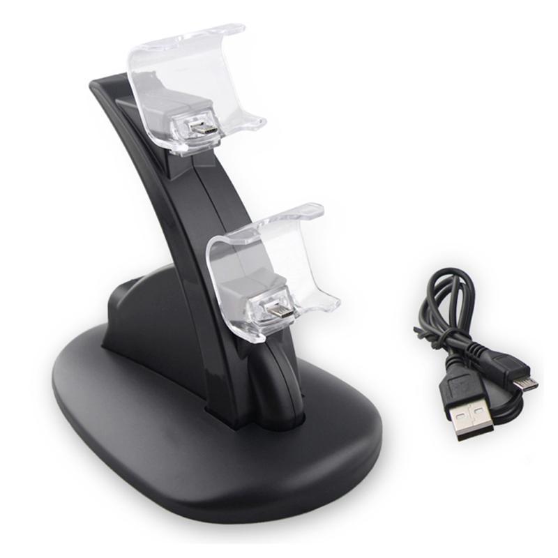 Dual GamePad Dock Station Charger Oplader Joystick Game Controller Voeding Houder voor Sony PlayStat