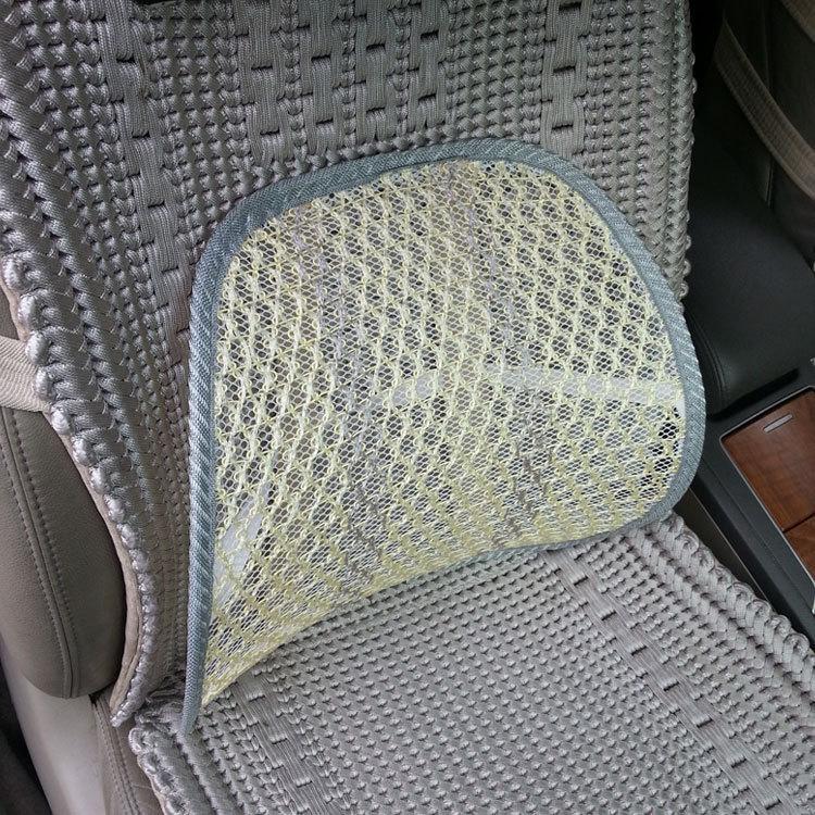 autostoel rugkussen Autostoel Stoel Massage Terug Lendensteun Mesh Ventileren Kussen Zwart,