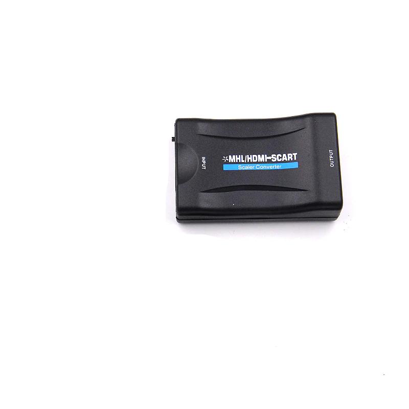 PZ Nieuwste1080 P HDMI naar SCART Video Audio Upscale Converter AV Signaal Adapter HD Ontvanger voor